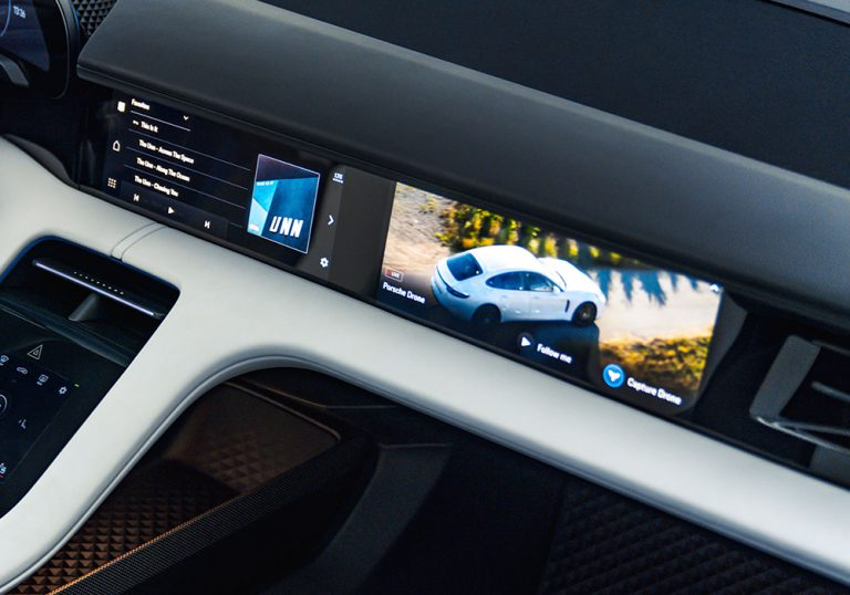 Porsche Mission E Cross Turismo Passenger Display