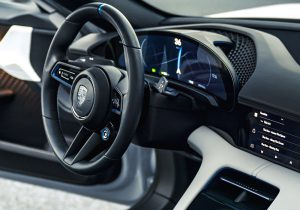 Porsche Mission E Cross Turismo Steering