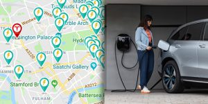 Find an electric vehicle charging point.