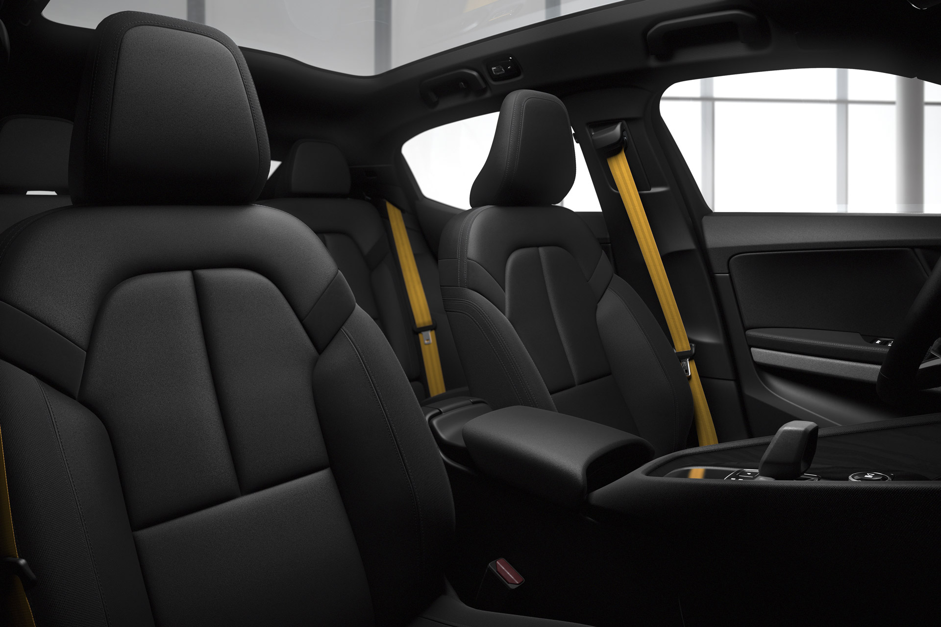 Polestar 2 Signature Gold Seatbelts