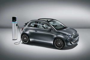 The all-new all-electric Fiat 500C La Prima