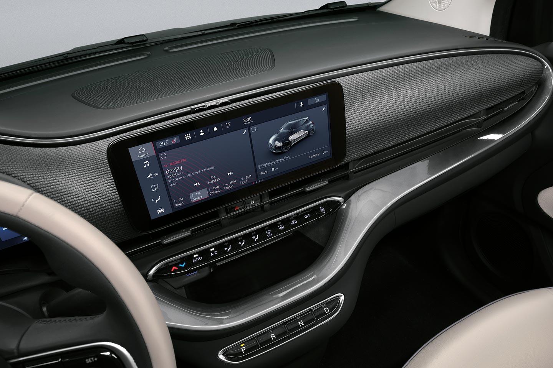 New Fiat 500 electric La Prima touch screen