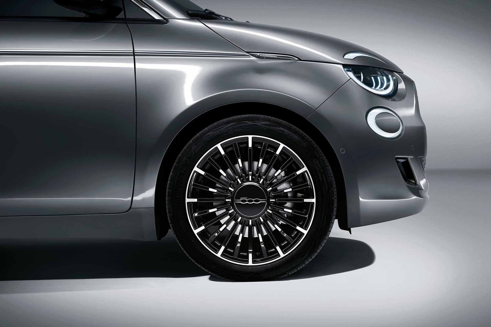 New Fiat 500c electric La Prima wheel design