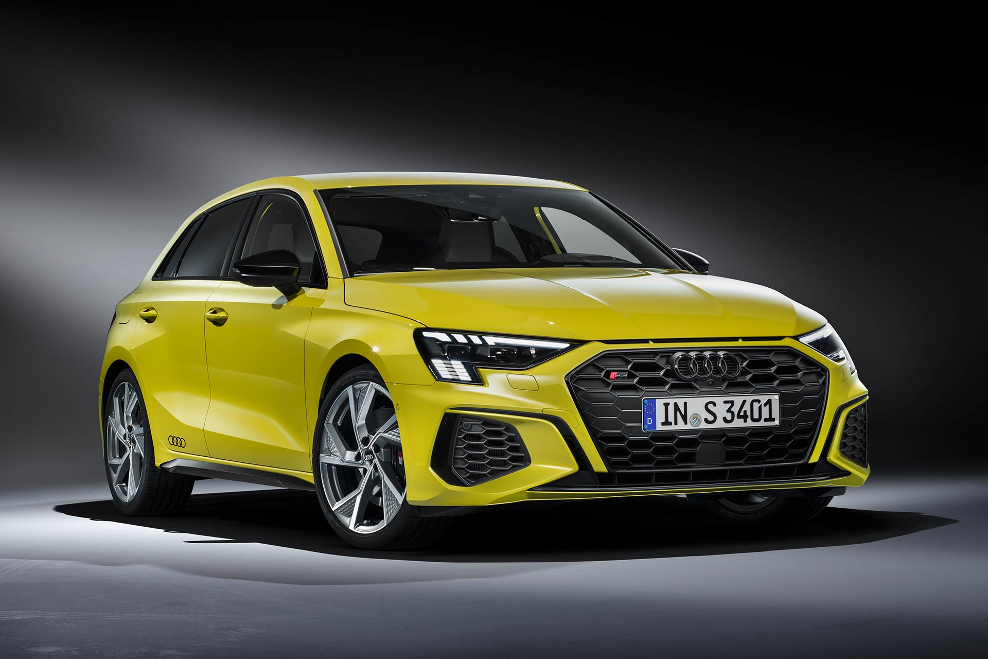 2020 Audi S3 sportback front side view