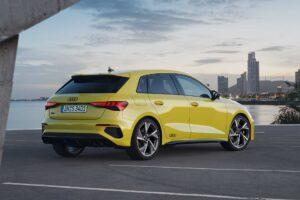 2020 Audi S3 sportback rear side view
