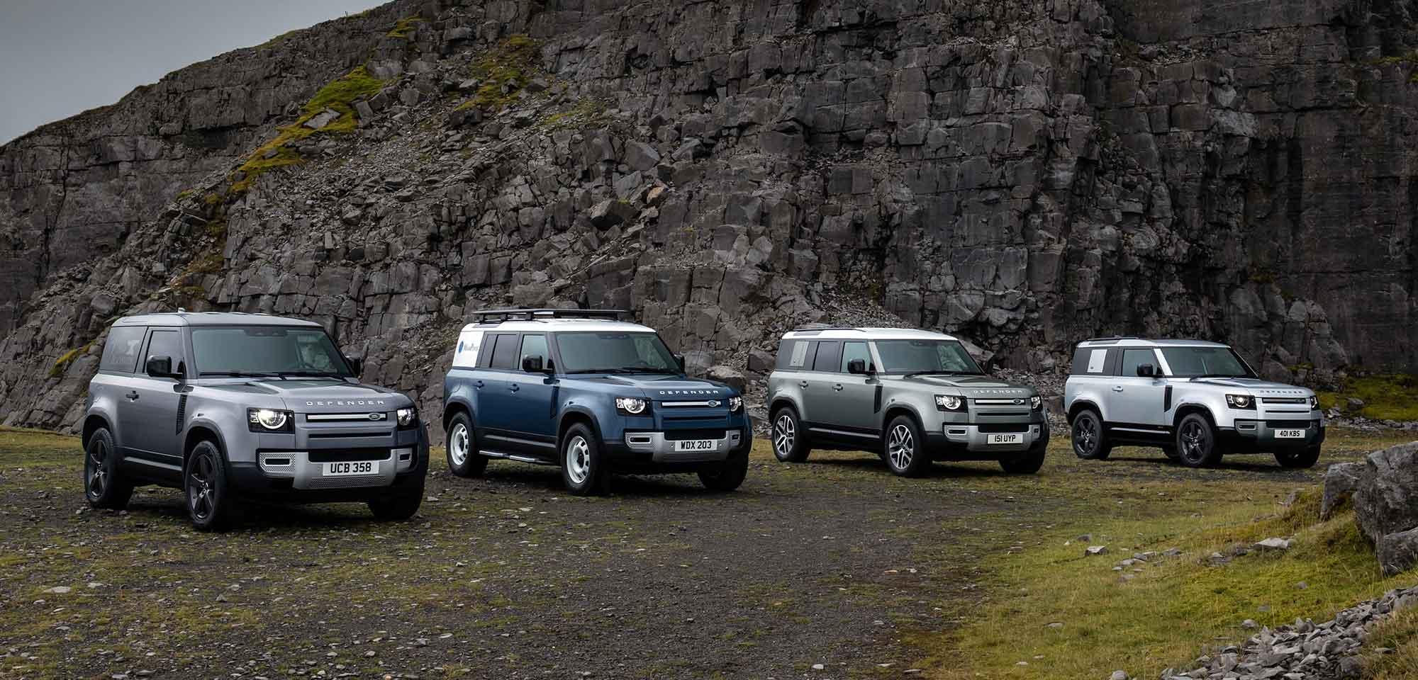 New Land Rover Defender family