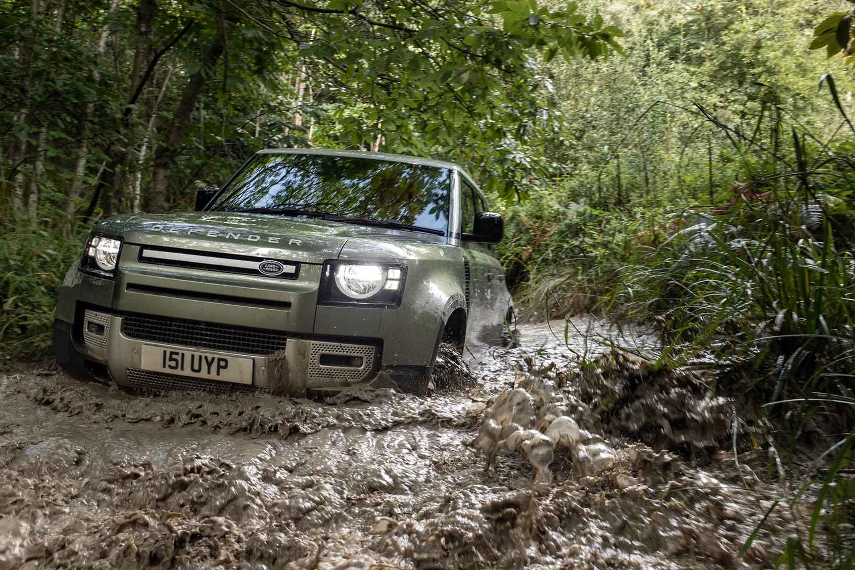 New Land Rover Defender plug-in hybrid wading