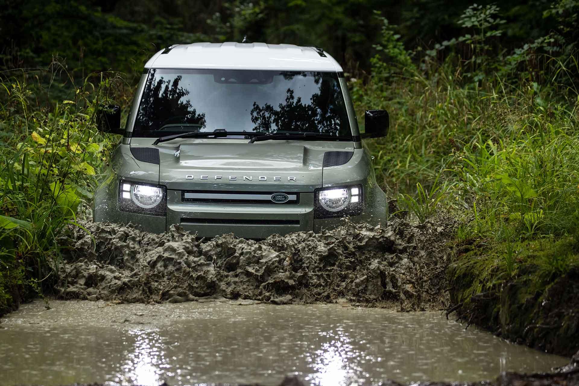 New Land Rover Defender plug-in hybrid off-road