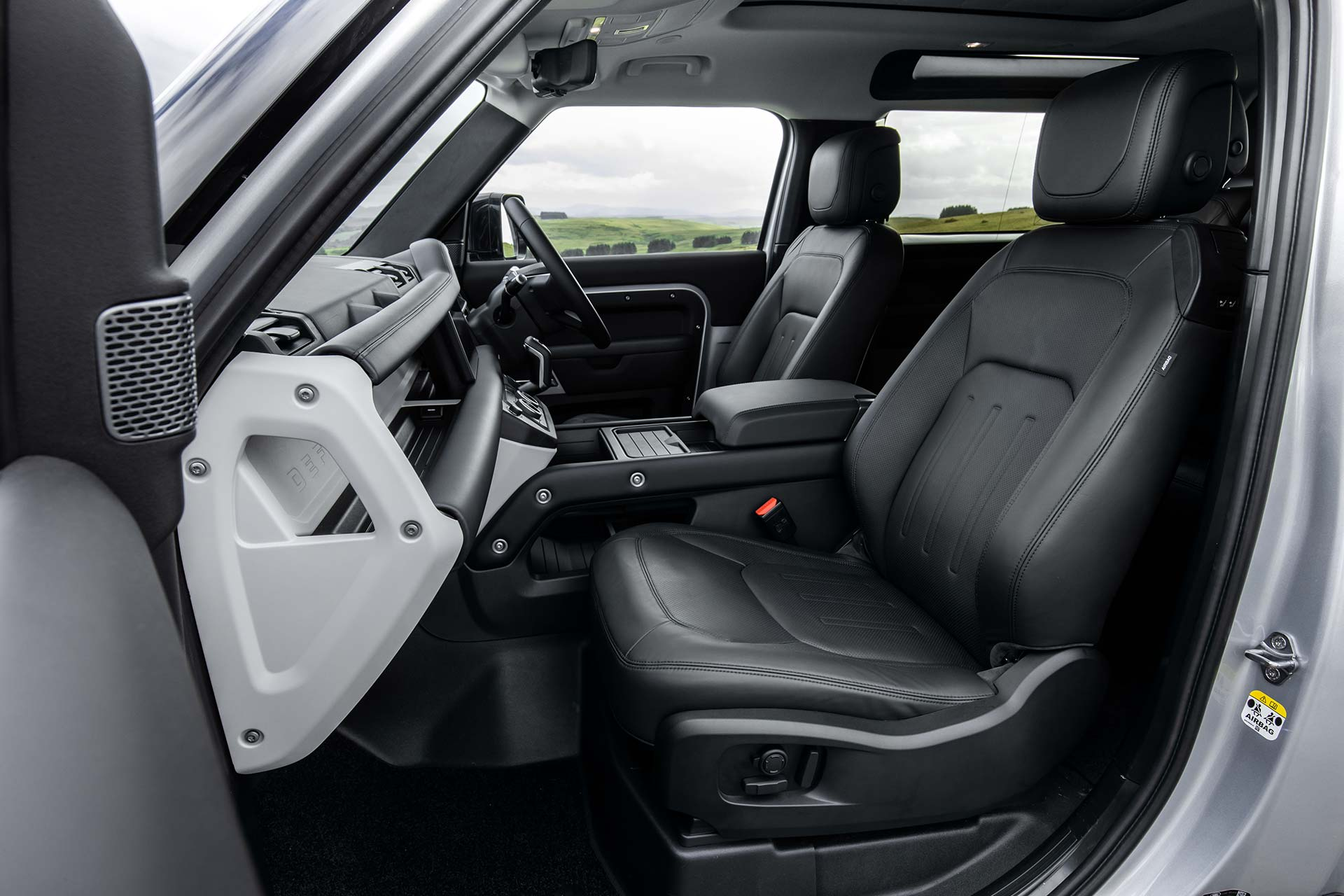 New Land Rover Defender Interior Front