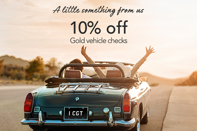 10% off Gold vehicle checks